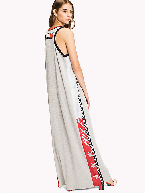 HILFIGER COLLECTION Sleeveless Rib Jumper Dress - SILVER - HILFIGER COLLECTION Maxi - detail image 1