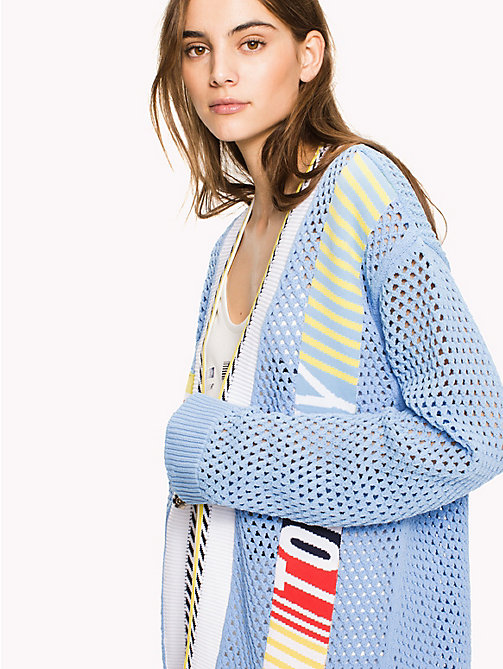 HILFIGER COLLECTION Knit Mesh Cardigan - HEATHER - HILFIGER COLLECTION Hilfiger Collection - main image