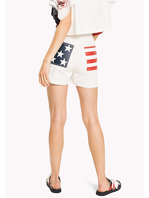 HILFIGER COLLECTION Short workwear en toile de coton - SNOW WHITE - HILFIGER COLLECTION Pantalons & Shorts - image détaillée 1