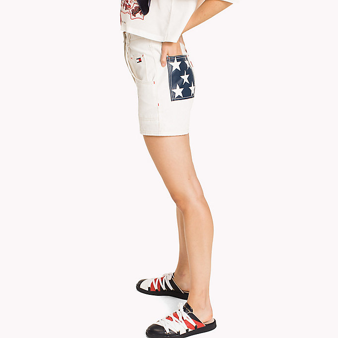 HILFIGER COLLECTION Tommy Flag Pocket Short - TOBACCO - HILFIGER COLLECTION Women - detail image 2