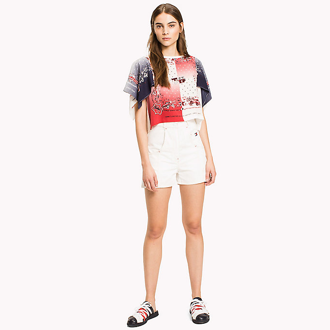 HILFIGER COLLECTION Tommy Flag Pocket Short - TOBACCO - HILFIGER COLLECTION Women - detail image 3