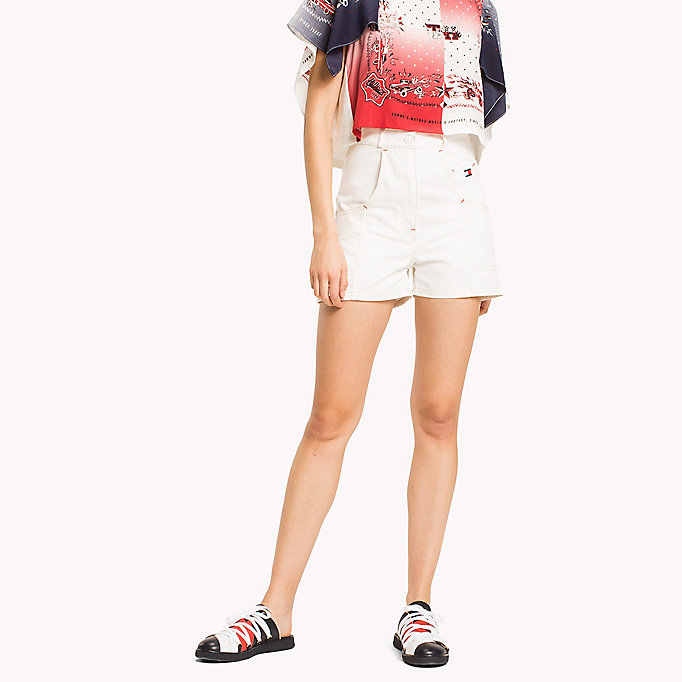 HILFIGER COLLECTION Tommy Flag Pocket Short - TOBACCO - HILFIGER COLLECTION Women - main image