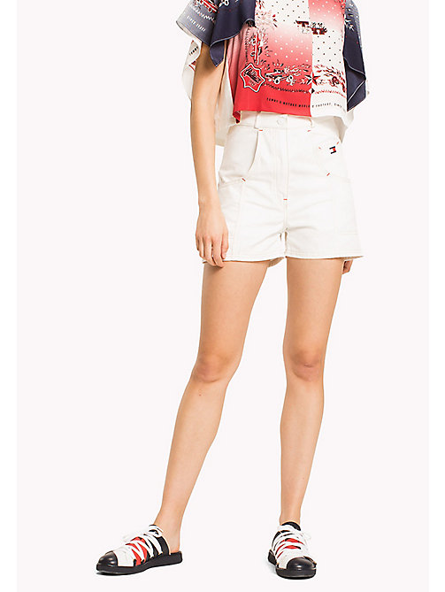 HILFIGER COLLECTION Short workwear en toile de coton - SNOW WHITE - HILFIGER COLLECTION Pantalons & Shorts - image principale