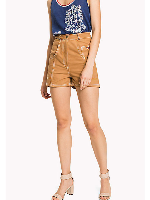 HILFIGER COLLECTION Short workwear en toile de coton - TOBACCO - HILFIGER COLLECTION Pantalons & Shorts - image principale