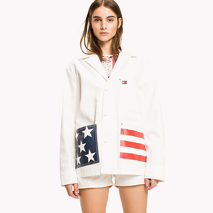 HILFIGER COLLECTION American Flag Pocket Jacket - TOBACCO - HILFIGER COLLECTION Women - main image