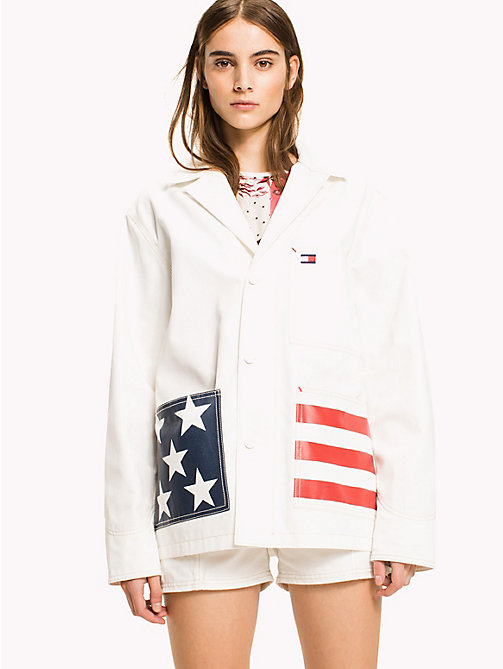 HILFIGER COLLECTION American Flag Pocket Jacket - SNOW WHITE - HILFIGER COLLECTION HILFIGER COLLECTION - main image