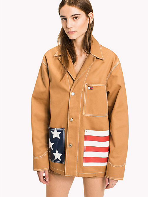 HILFIGER COLLECTION American Flag Pocket Jacket - TOBACCO - HILFIGER COLLECTION HILFIGER COLLECTION - main image