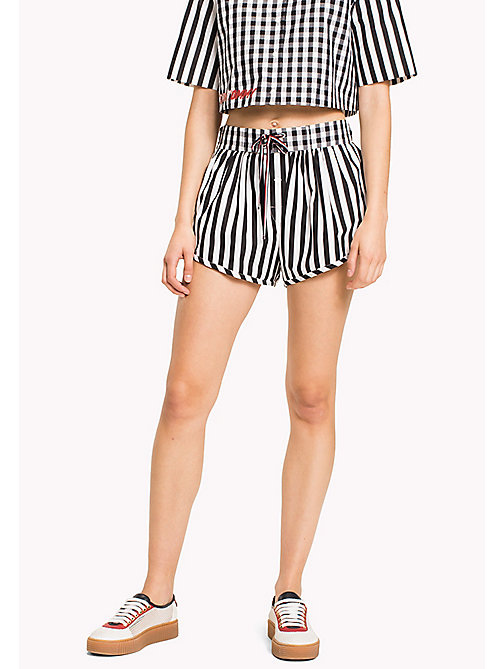 HILFIGER COLLECTION Gingham Stripe Short - METEORITE / SNOW WHITE - HILFIGER COLLECTION VACATION - main image