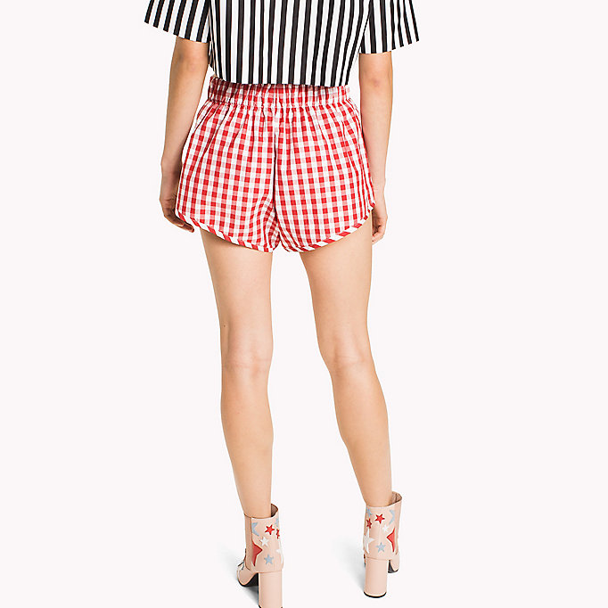 HILFIGER COLLECTION Shorts a righe e quadretti vichy - METEORITE / SNOW WHITE - HILFIGER COLLECTION Donne - dettaglio immagine 1