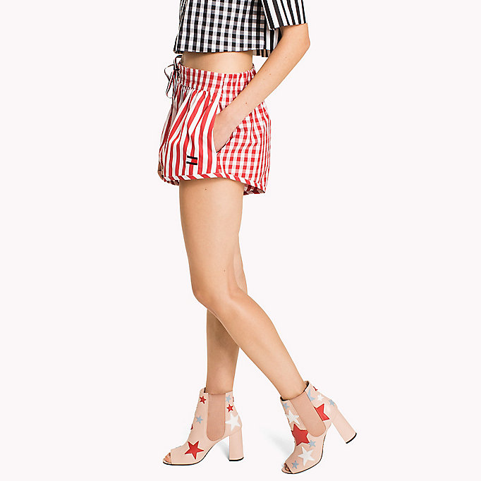 HILFIGER COLLECTION Gingham Stripe Short - METEORITE / SNOW WHITE - HILFIGER COLLECTION Women - detail image 2