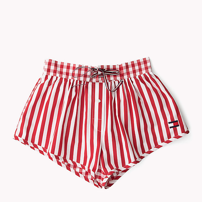 HILFIGER COLLECTION Shorts a righe e quadretti vichy - METEORITE / SNOW WHITE - HILFIGER COLLECTION Donne - dettaglio immagine 5
