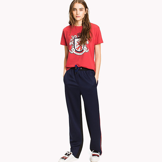 HILFIGER COLLECTION Tommy Crest T-Shirt aus Baumwolle - HEATHER - HILFIGER COLLECTION Damen - main image 2