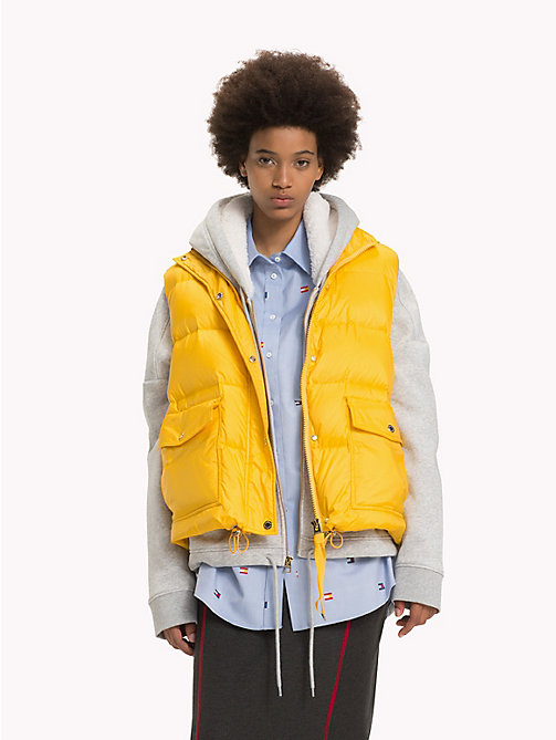 HILFIGER COLLECTION Veste sans manches en duvet - YELLOW SPECTRA / MULTI - HILFIGER COLLECTION Hilfiger Collection - image principale