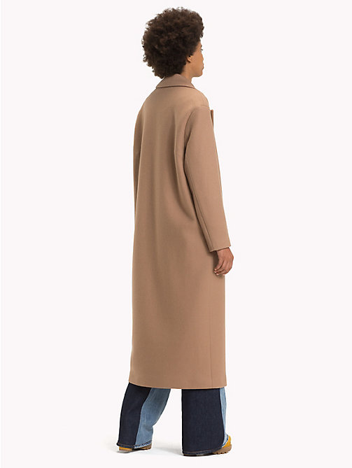 HILFIGER COLLECTION Classic Fit Wool and Cashmere Coat - BROWN SUGAR - HILFIGER COLLECTION TOMMY NOW WOMEN - detail image 1