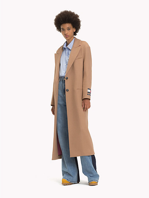 HILFIGER COLLECTION Classic Fit Wool and Cashmere Coat - BROWN SUGAR - HILFIGER COLLECTION TOMMY NOW WOMEN - main image