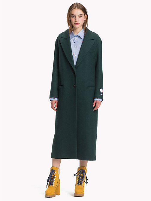 HILFIGER COLLECTION Classic Wool and Cashmere Coat - BAYBERRY - HILFIGER COLLECTION Hilfiger Collection - main image