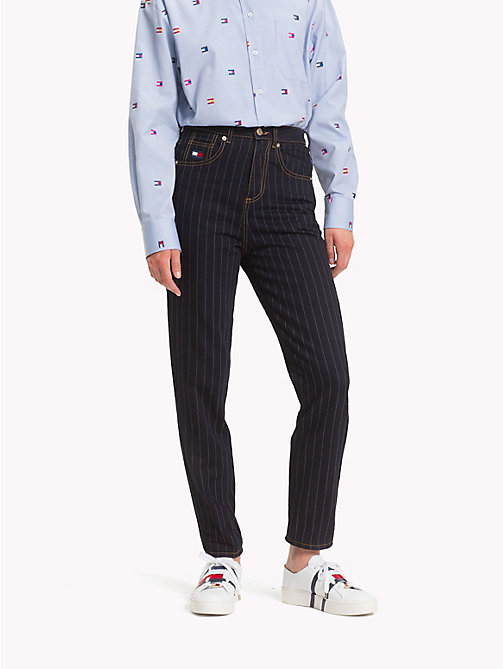 HILFIGER COLLECTION Pinstripe Candiani-Denim Jeans - MEDIUM WASH DENIM - HILFIGER COLLECTION Hilfiger Collection - main image