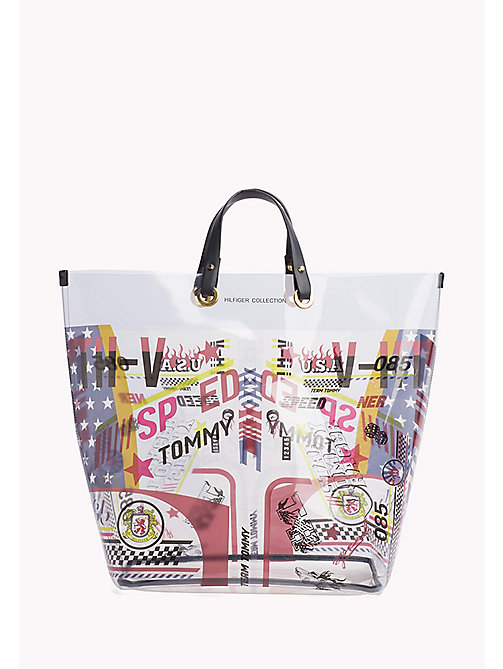 HILFIGER COLLECTION Speed Racer Tote mit Print - DEEPWELL / MULTI - HILFIGER COLLECTION Bags & Accessories - main image