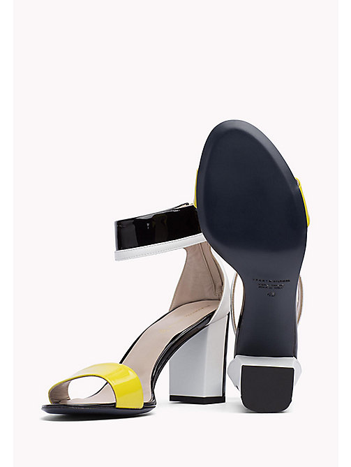HILFIGER COLLECTION PATENT ANKLE STRAP SANDAL - METEORITE / MULTI -  Hilfiger Collection - detail image 1