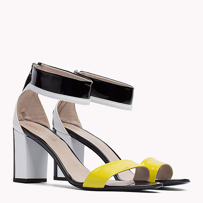 HILFIGER COLLECTION Patent Leather Strappy Sandal - TRUE RED / MULTI - HILFIGER COLLECTION SHOES - main image