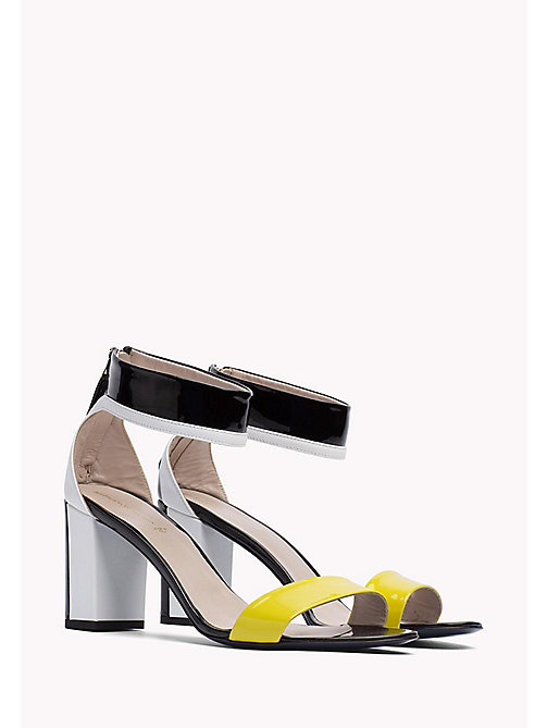 HILFIGER COLLECTION PATENT ANKLE STRAP SANDAL - METEORITE / MULTI -  Hilfiger Collection - main image