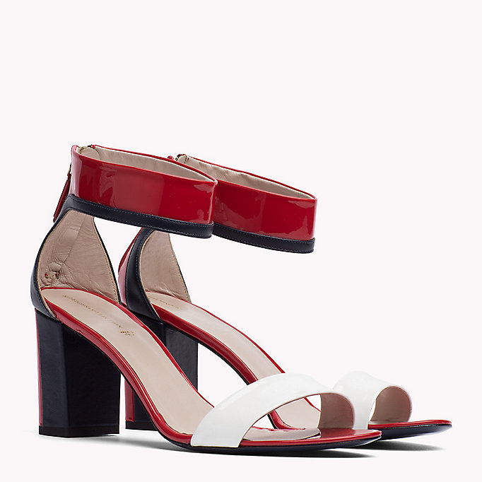 HILFIGER COLLECTION Patent Leather Strappy Sandal - NUDE - HILFIGER COLLECTION SHOES - main image