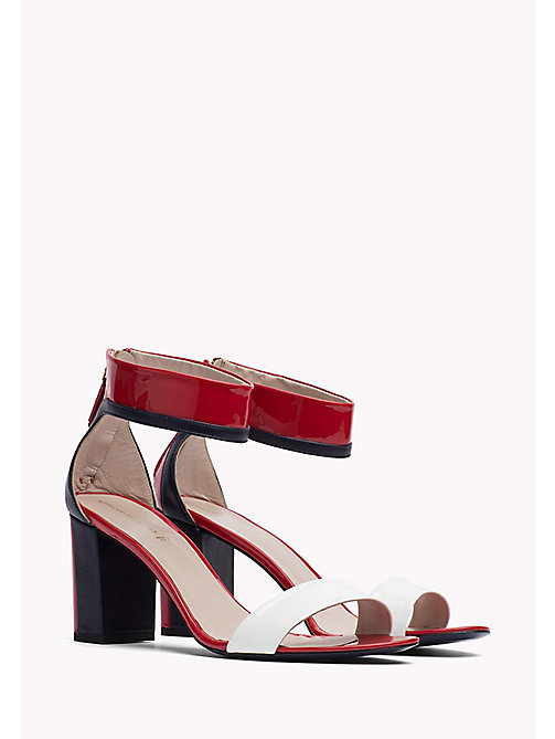 HILFIGER COLLECTION PATENT ANKLE STRAP SANDAL - TRUE RED / MULTI - HILFIGER COLLECTION Hilfiger Collection - main image