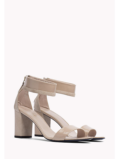 HILFIGER COLLECTION PATENT ANKLE STRAP SANDAL - NUDE - HILFIGER COLLECTION Hilfiger Collection - main image