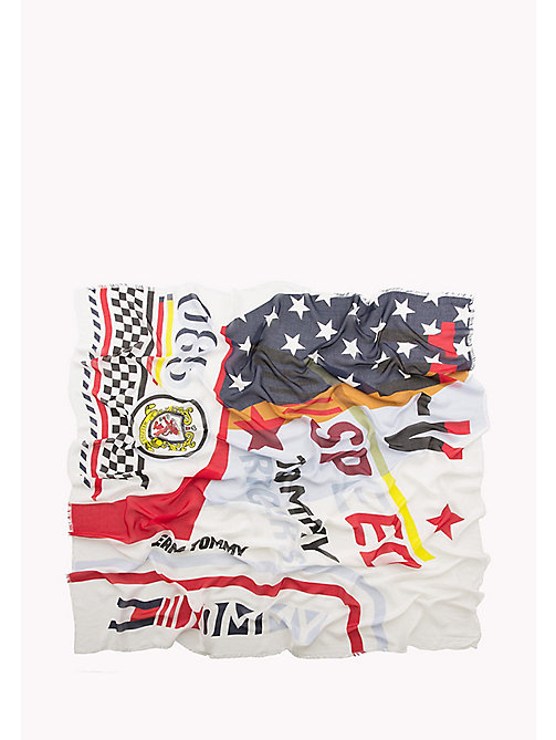HILFIGER COLLECTION Speed Racers Scarf - SNOW WHITE / MULTI - HILFIGER COLLECTION Hilfiger Collection - detail image 1