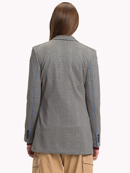 HILFIGER COLLECTION Houndstooth Double Breasted Tailored Jacket - METEORITE / MULTI - HILFIGER COLLECTION TOMMY NOW WOMEN - detail image 1