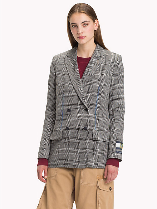 HILFIGER COLLECTION Houndstooth Double Breasted Tailored Jacket - METEORITE / MULTI - HILFIGER COLLECTION Trending - main image