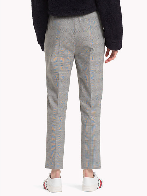 HILFIGER COLLECTION Check Drawstring Trousers - METEORITE / MULTI - HILFIGER COLLECTION Trending - detail image 1