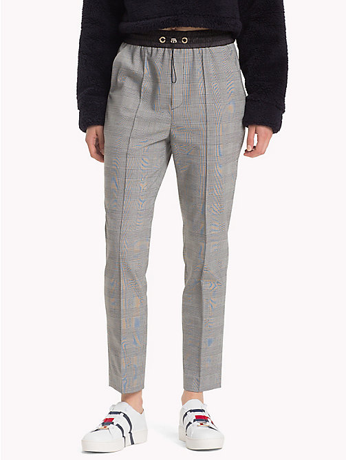 HILFIGER COLLECTION Check Drawstring Trousers - METEORITE / MULTI - HILFIGER COLLECTION Trending - main image