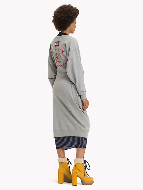 HILFIGER COLLECTION Robe pull chic à logo - LIGHT GREY HEATHER - HILFIGER COLLECTION TOMMY NOW FEMMES - image détaillée 1
