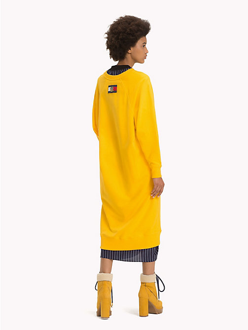 HILFIGER COLLECTION Edles Pulloverkleid mit Logo - SPECTRA YELLOW - HILFIGER COLLECTION Kleider & Röcke - main image 1