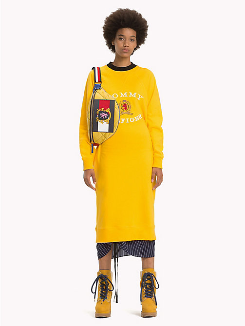 HILFIGER COLLECTION Luxury Logo Jumper Dress - SPECTRA YELLOW - HILFIGER COLLECTION Hilfiger Collection - main image