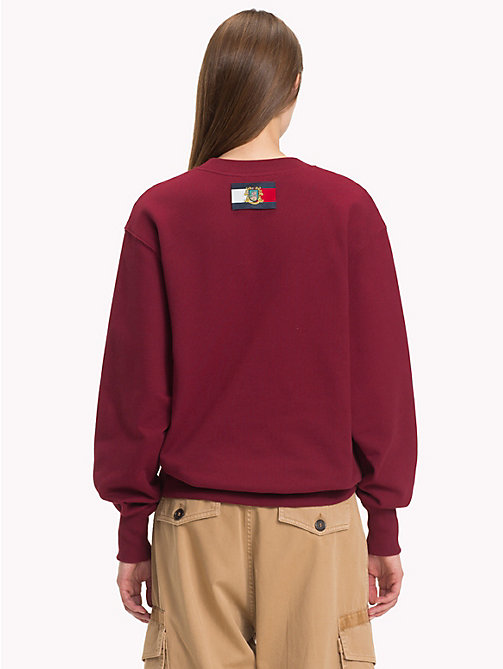 HILFIGER COLLECTION Luxury Crest Logo Sweatshirt - CABERNET - HILFIGER COLLECTION TOMMY NOW WOMEN - detail image 1