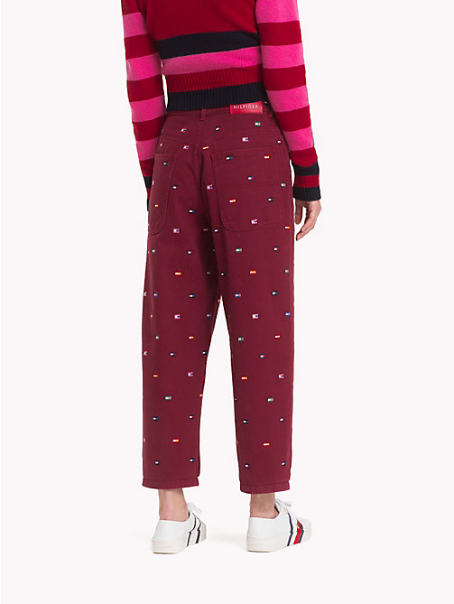 HILFIGER COLLECTION Contrast Flag Print Jeans - CABERNET - HILFIGER COLLECTION Hilfiger Collection - detail image 1