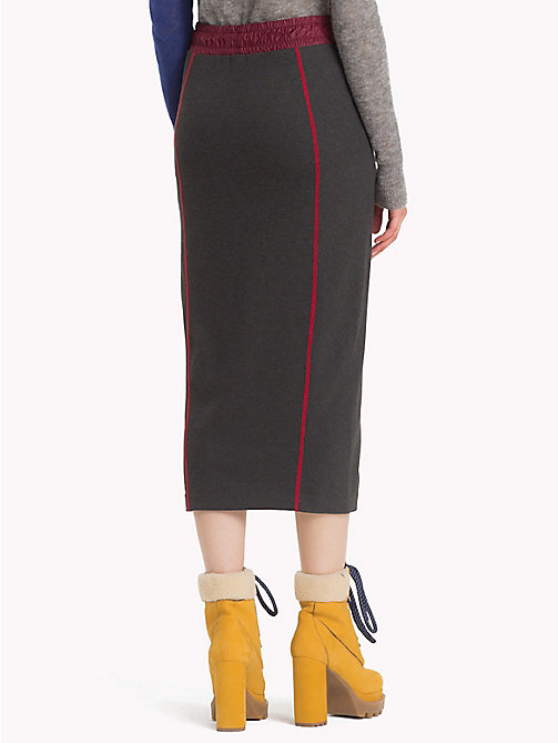 HILFIGER COLLECTION Sporty Jersey Midi Skirt - DARK GREY HEATHER - HILFIGER COLLECTION Hilfiger Collection - detail image 1