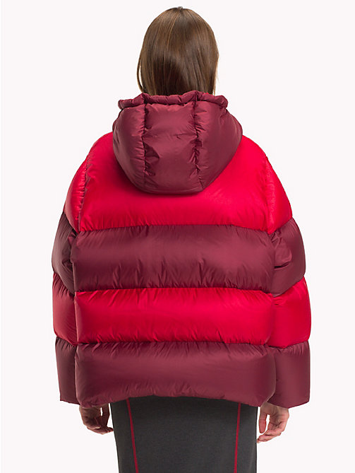HILFIGER COLLECTION Stripe Padded Coat - TRUE RED / MULTI - HILFIGER COLLECTION TOMMY NOW WOMEN - detail image 1