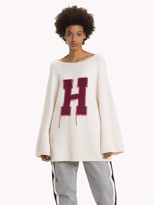 HILFIGER COLLECTION Crest Cable Knit Cardigan - SNOW WHITE - HILFIGER COLLECTION Hilfiger Collection - main image