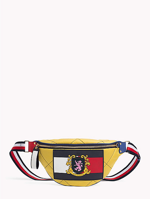 HILFIGER COLLECTION Quilted Leather Bum Bag - SPECTRA YELLOW - HILFIGER COLLECTION Hilfiger Collection - main image