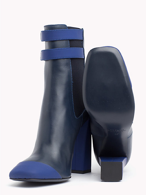 HILFIGER COLLECTION Leather Ankle Boot - DEEP WELL - HILFIGER COLLECTION TOMMY NOW WOMEN - detail image 1