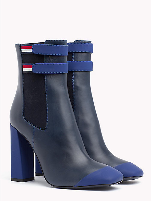HILFIGER COLLECTION Leather Ankle Boot - DEEP WELL - HILFIGER COLLECTION TOMMY NOW WOMEN - main image