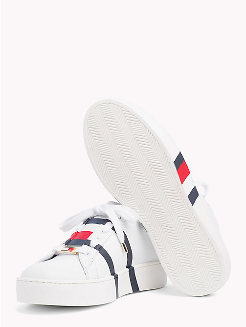 HILFIGER COLLECTION Low Top Signature Tape Trainers - SNOW WHITE - HILFIGER COLLECTION TOMMY NOW WOMEN - detail image 1