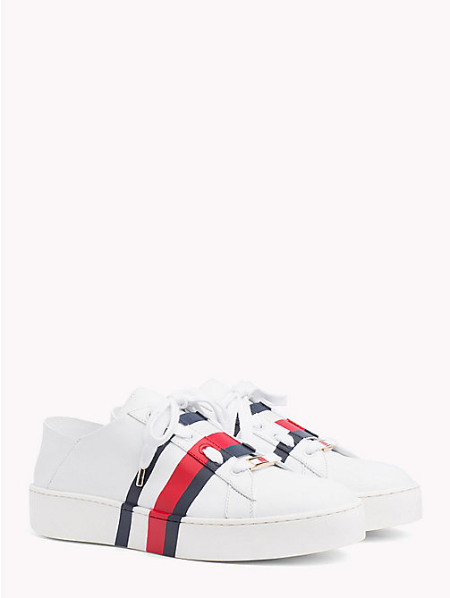 HILFIGER COLLECTION Low Top Signature Tape Trainers - SNOW WHITE - HILFIGER COLLECTION TOMMY NOW WOMEN - main image