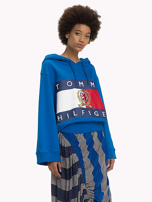 HILFIGER COLLECTION Crest Appliqué Sweatshirt - SKYDIVER - HILFIGER COLLECTION TOMMY NOW WOMEN - main image