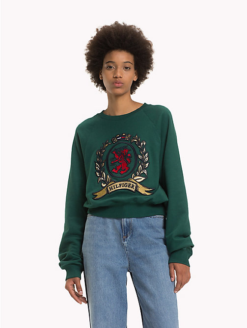 HILFIGER COLLECTION Luxury Crest Logo Sweatshirt - BAYBERRY - HILFIGER COLLECTION Hilfiger Collection - main image