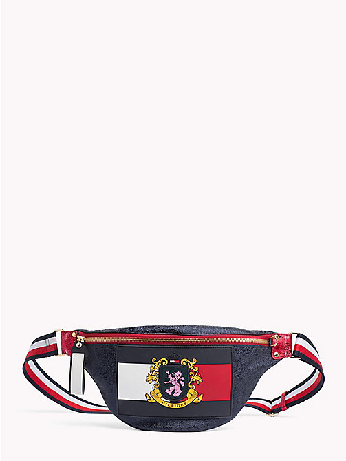 HILFIGER COLLECTION Metallic Leather Fanny Pack - DEEP WELL - HILFIGER COLLECTION TOMMY NOW WOMEN - main image