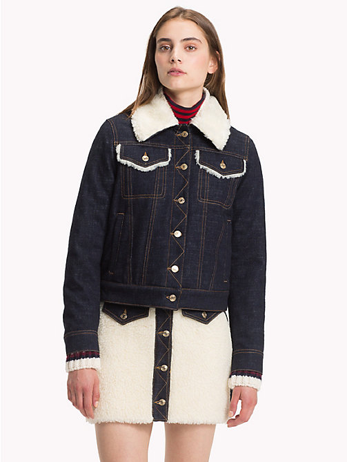 HILFIGER COLLECTION Contrast Collar Denim Jacket - DENIM - HILFIGER COLLECTION Hilfiger Collection - main image